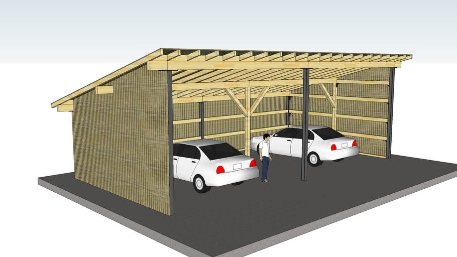 Garage Hangar Monopente 12x6m 3d Warehouse
