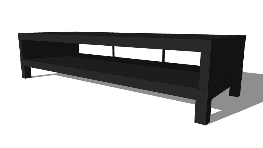Meuble Tv Ikea Lack Brun Noir 3d Warehouse