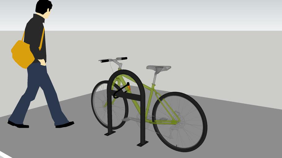 u 2 bike rack with cross bar by