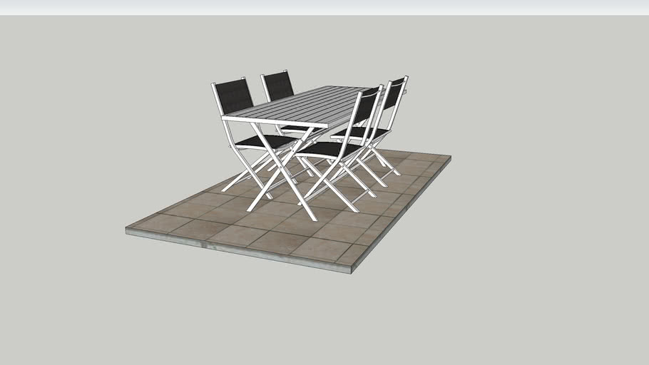 salon de jardin pliable 3d warehouse