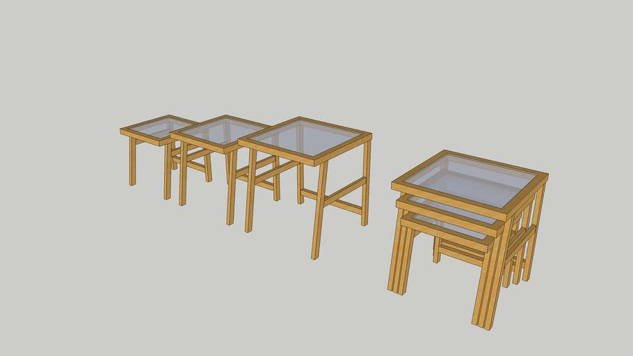 marel tables gigognes set de 3