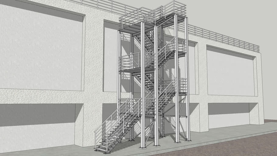 Structural Steel Staircase 3D Warehouse   Steel Steps For Stairs   Iron Plate   Steel Structure   2 Step   Metal Floor Plate   Double Stringer
