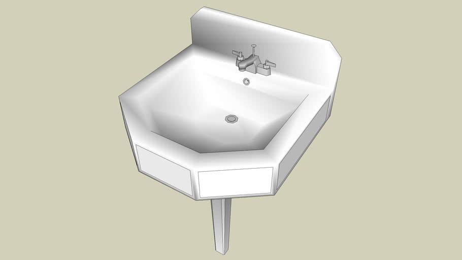 vintage kohler pedestal sink 3d warehouse