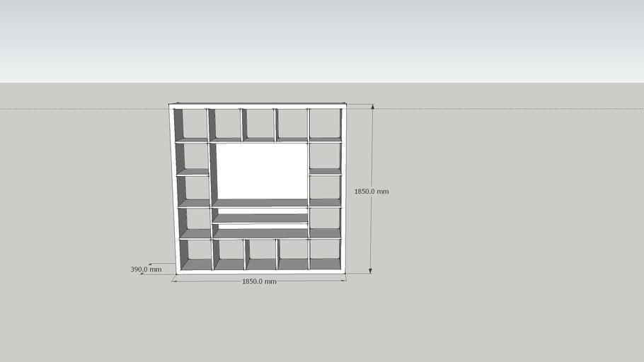 meuble tv ikea expedit 3d warehouse