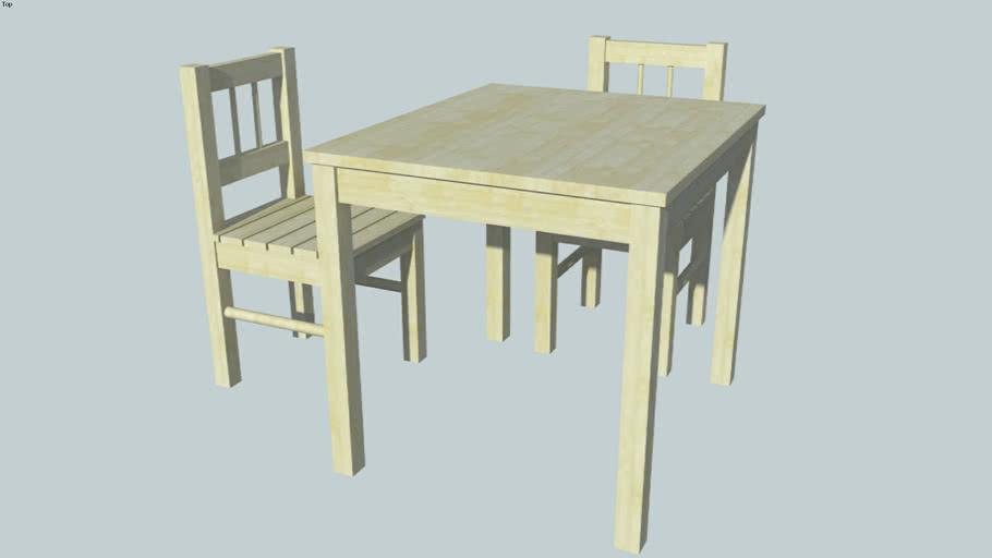 svala ikea table enfant et chaise 3d