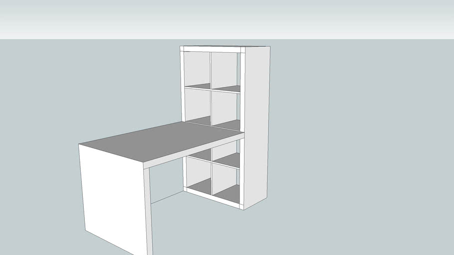 Bureau Ikea Expedit 3d Warehouse