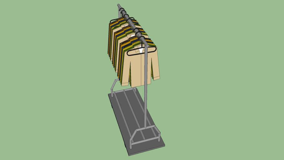 clothes rack 3d warehouse