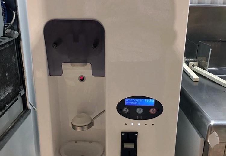 Imagen de la impresión 3D de repuesto para máquinas de helados.