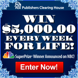 Enter to win $5,000 a week for life