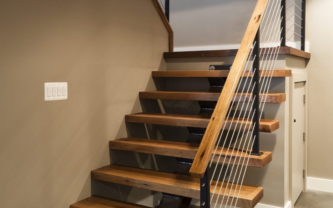 Cable Railing Vs Wood Railing Owings Brothers Contracting | Modern Cable Stair Railing | Stainless Steel Stair | Railing Systems | Glass Railing | Entry Foyer | Staircase Remodel