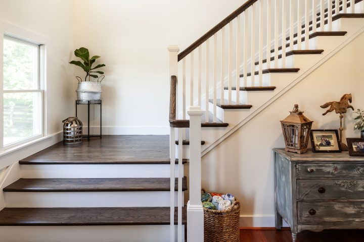 Split Foyer Conversion Interior Owings Brothers Contracting | Split Level Entry Stairs | Wood | Half Wall | Stairwell | Raised Bungalow | Interior