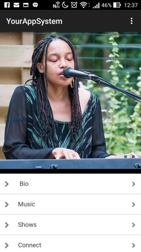 Musician Tiki Black Mobile App - Home Slider