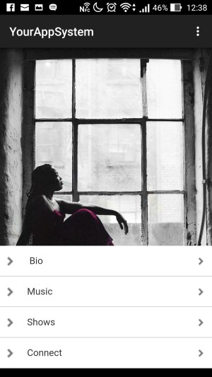 Musician Tiki Black Mobile App - Home Slider