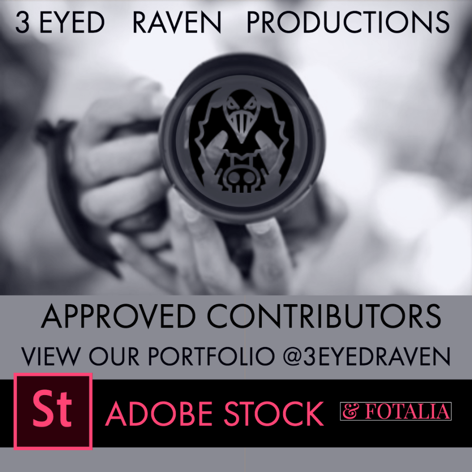 3 EYED RAVEN PRODUCTION IN ON ADOBE STOCK AND FOTALIA - FIND THE LINK HERE TO THEIR PORTFOLIO OF STOCK IMAGES AND FOOTAGE