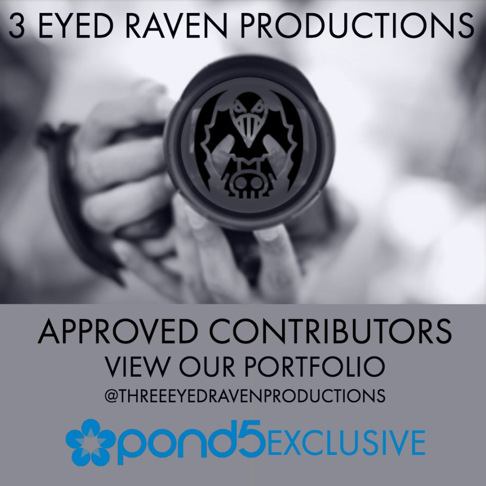 3 EYED RAVEN PRODUCTION IN ON POND5 - FIND THE LINK HERE TO THEIR PORTFOLIO OF STOCK IMAGES AND FOOTAGE