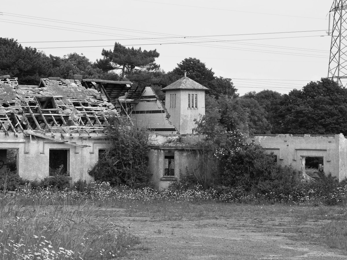 The derelict boys village, St Athan. Print for sale