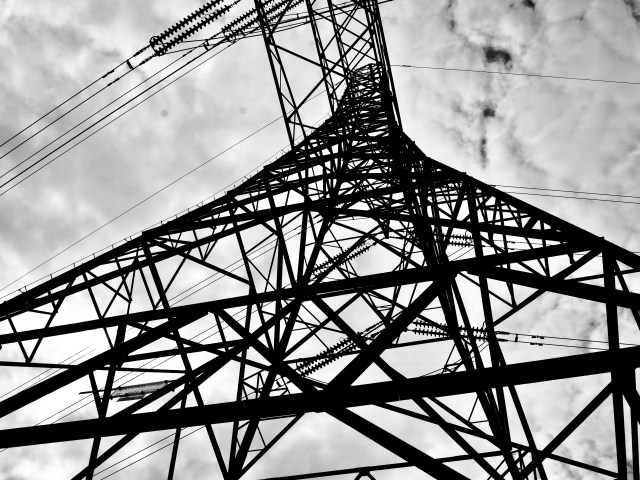 Photo prints of Industrial pylons