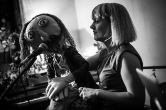 Puppet Alan Watts, 3EYE's Merry Cosmos, The Rose Hill, December 2016