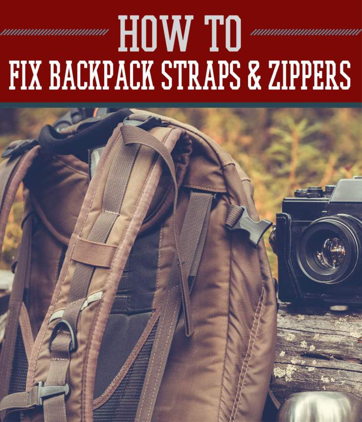 How To Fix Backpack Straps And Zippers Outdoors | https://survivallife.com/fix-backpack-straps-zippers/