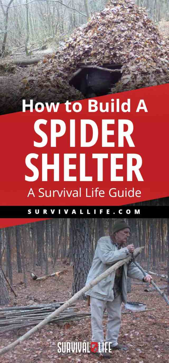 Placard | Building a Survival Shelter | How to Build A Spider Shelter | A Survival Life Guide