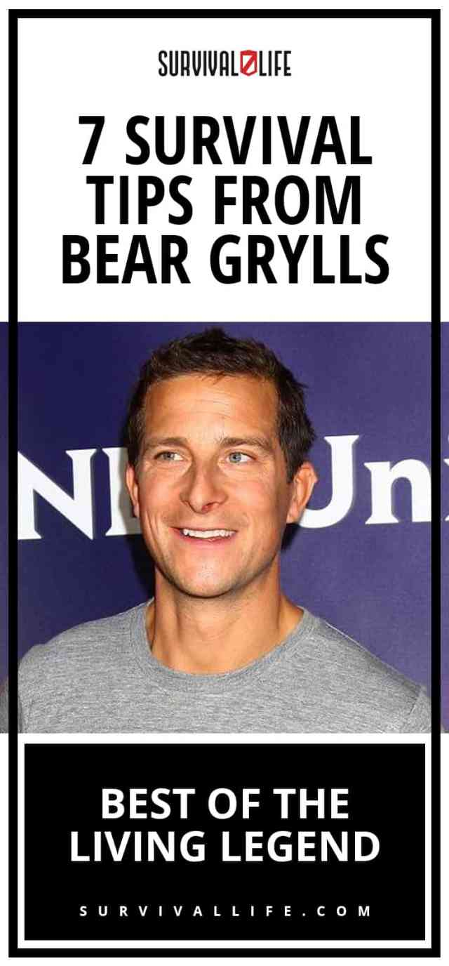 Placard | Survival Tips From Bear Grylls: Best Of The Living Legend