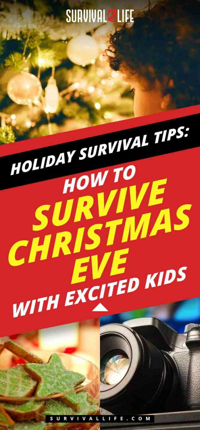 Placard   Holiday Survival Tips   How To Survive Christmas Eve With Excited Kids