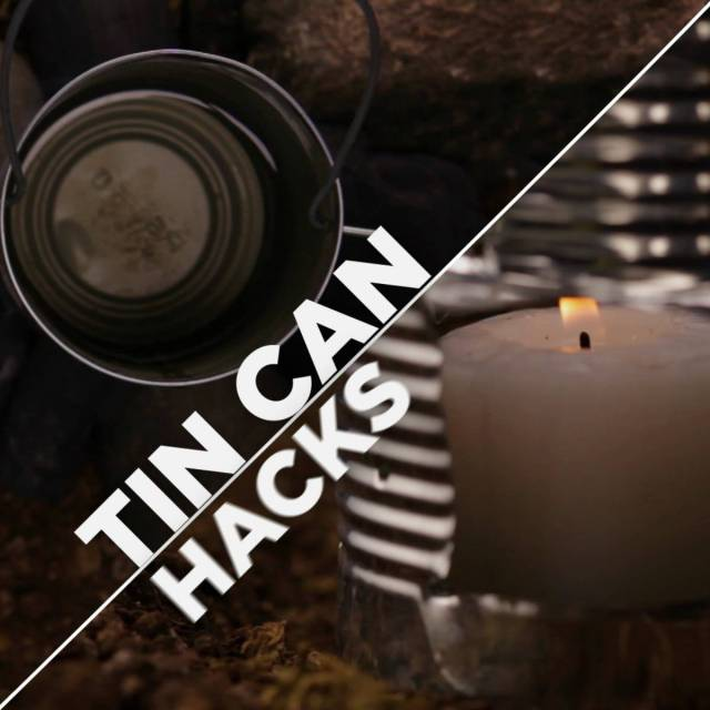 Tin can lantern stove   Surprising Survival Uses For A Tin Can