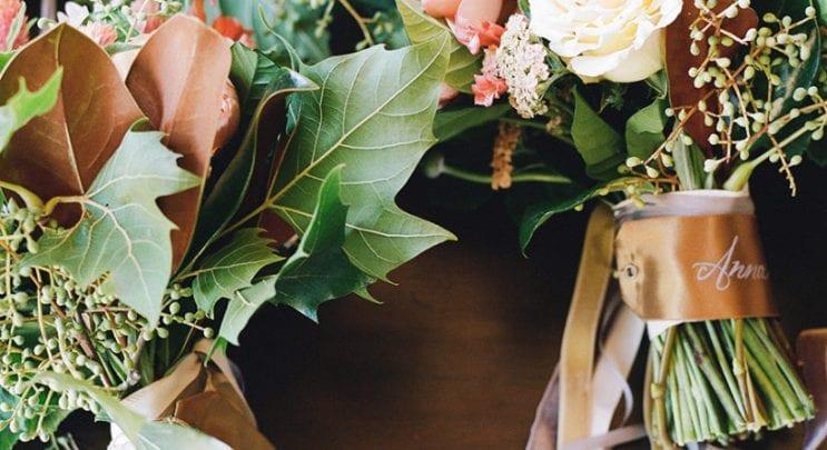Floral Decor Barn Wedding