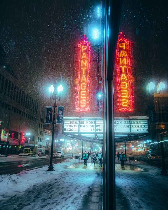 photo of sidewalk during snow