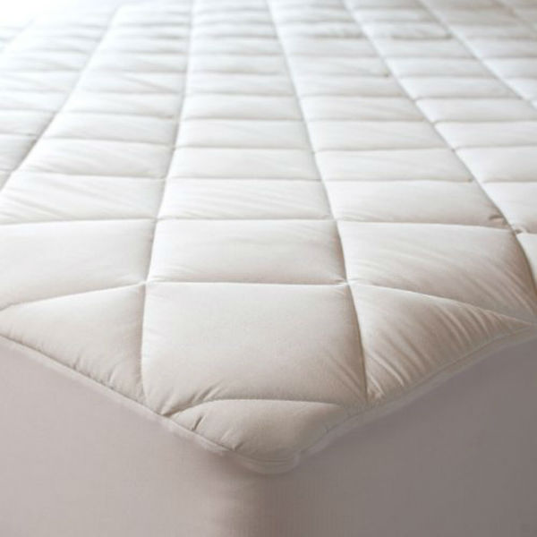Mattress Protector With Zipper Waterproof White