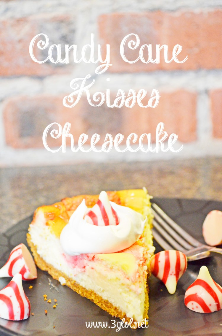 Candy Cane Kisses Cheesecake