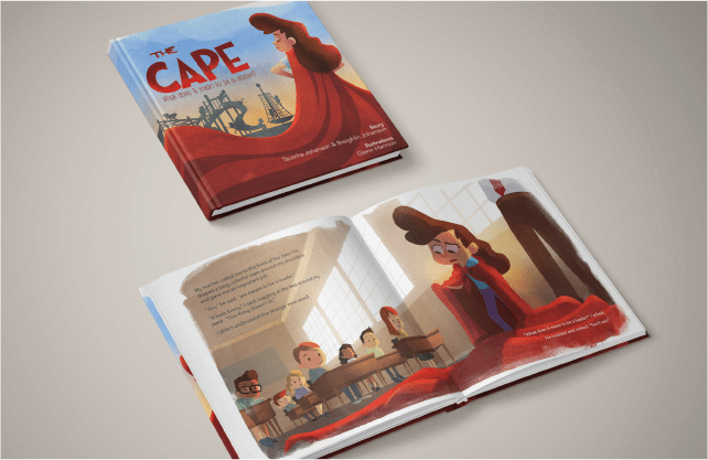 The Cape book inside and cover