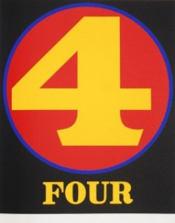 robert indiana creely numbers serigraphs four 4