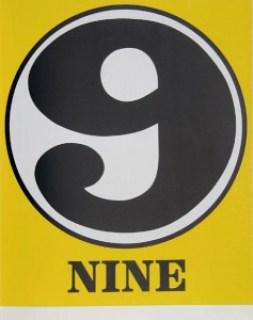 robert indiana creely numbers serigraphs nine 9