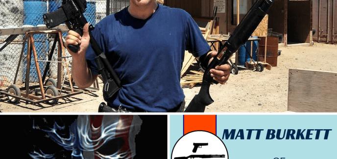 Matt Burkett of Predator Tactical showing off his 3-Guns