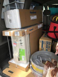 ホームセンターでエアコン仕入れて即取り付け 北九州市戸畑区にて