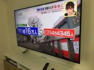 壁掛けテレビ設置工事 岡垣町にて