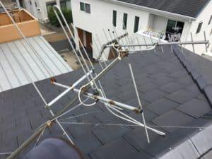 ソーラーパネルに八木アンテナが倒れなくてよかったですね。