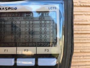 4K8Kの電波レベルも測れるレベルチェッカー Maspro LCT5