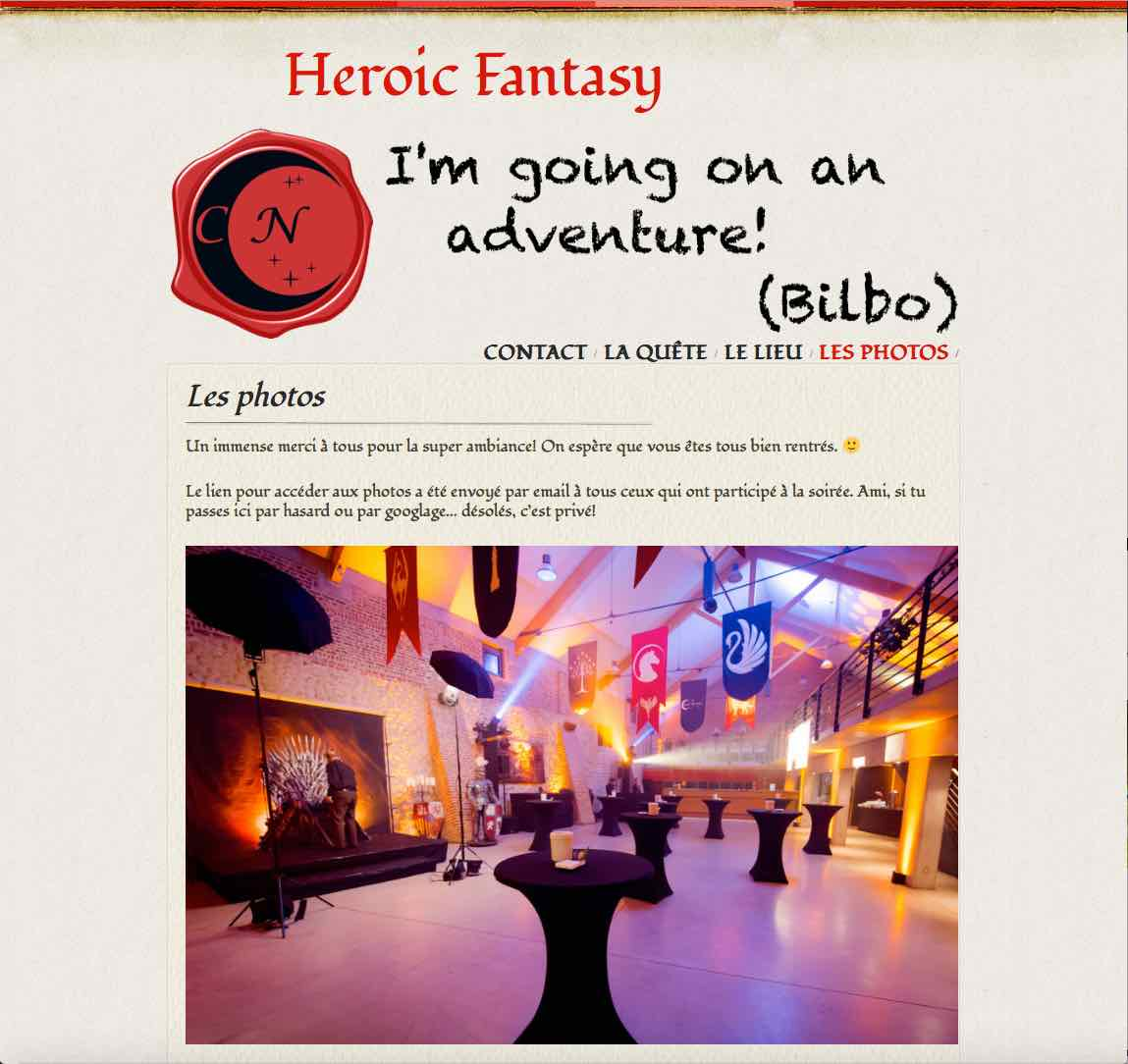 Website Heroic Fantasy