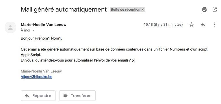 mail généré automatiquement via AppleScript, Mail et Numbers