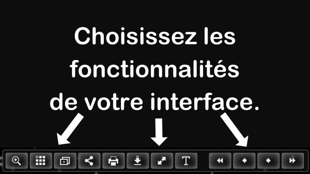 flipbook interface personnalisée