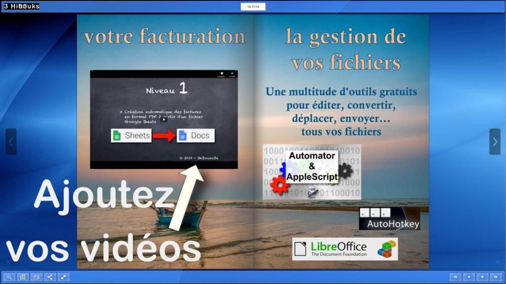flipbook avec vidéo