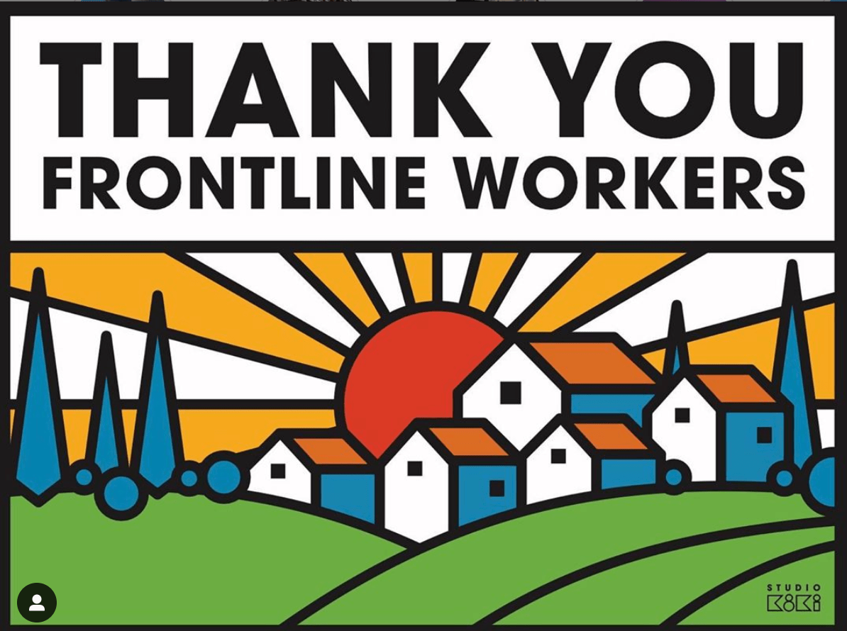 Thank You To Essential Workers With Printable Sign 510 Families