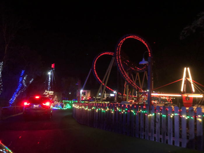 Drive Through Christmas Lights At Six Flags Vallejo 510 Families