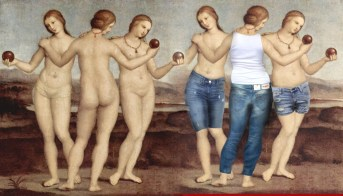 Three Graces in Levis