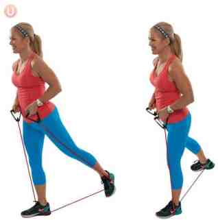 Image result for RESISTANCE BAND ALTERNATING GLUTE SQUEEZE