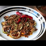 Grilled Squash with Chorizo Vinaigrette – Pattypan Squash with Hot Chorizo Dressing