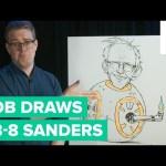 How to Draw Bernie Sanders'  Head on BB-8's Body   Bob Draws