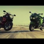 Kawasaki ZX-14R vs Suzuki Hayabusa! – Head 2 Head Episode 2